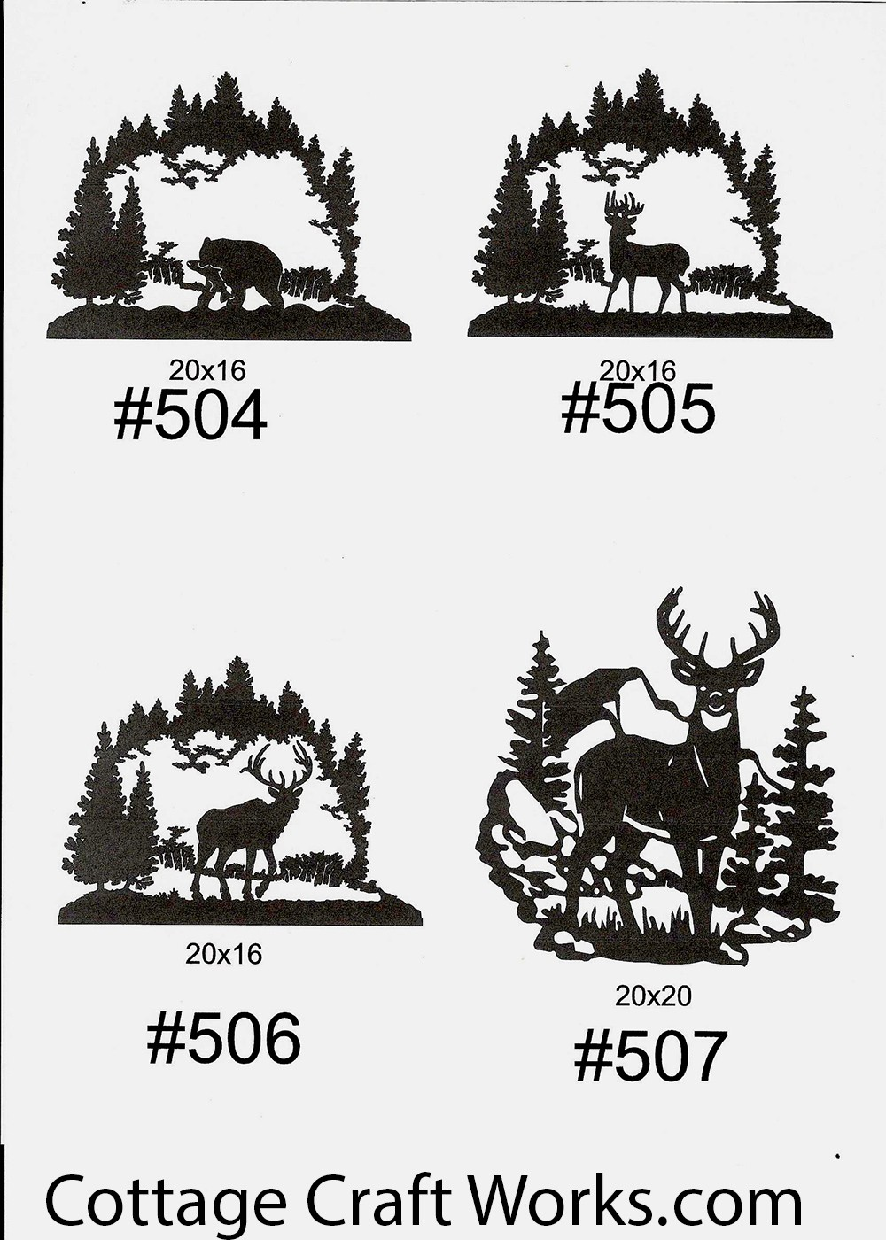Metal silhouettes of wildlife hunter decor, gifts