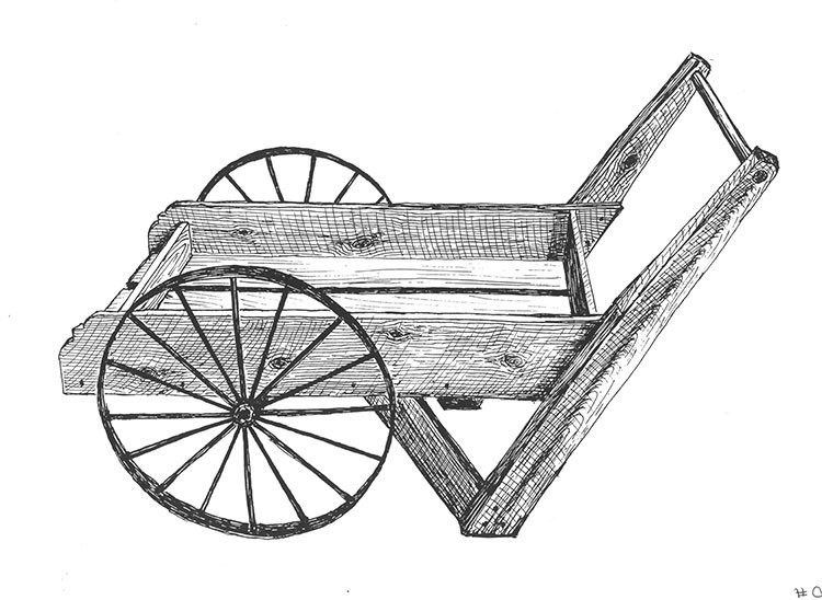 Plans And Hardware Old Fashioned Wooden Peddler Cart