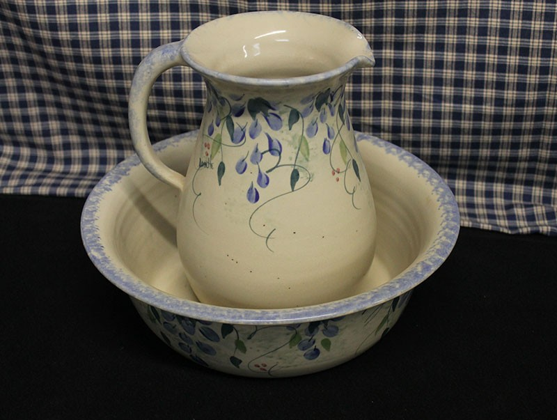 Usa Stoneware Pitcher Amp Bowl Wash Basin Set