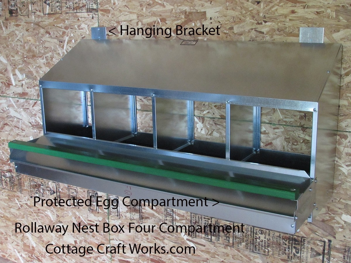 Rollaway Chicken Nest Box 4 Box Front Or Rear Egg Collection