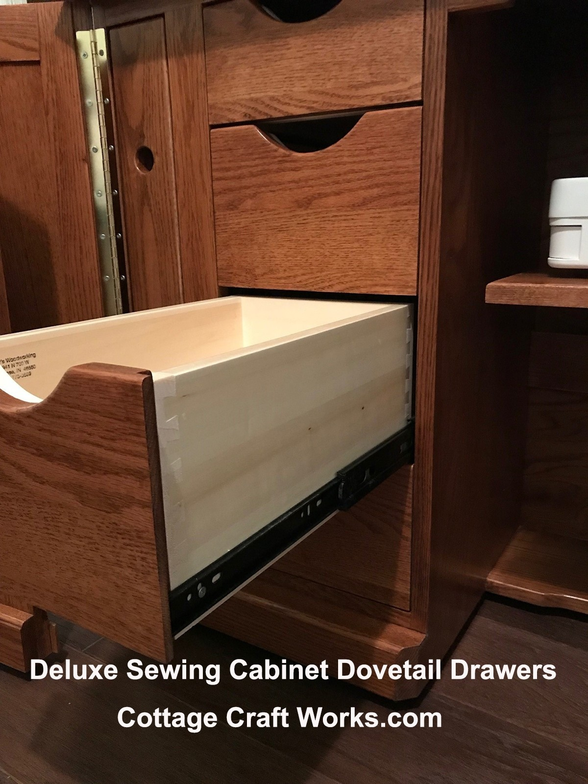 Amish Deluxe Sewing Machine Cabinet With A Serger Lift