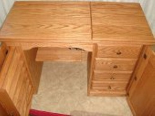 More Views Solid Wood Amish Handcrafted Sewing Machine Cabinet