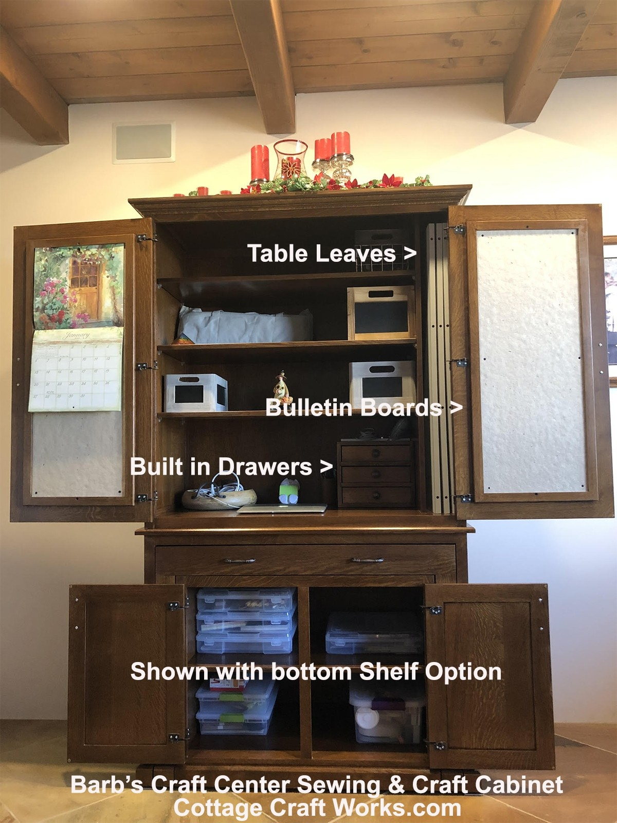 Amish Furniture Sewing Amp Crafts Cabinet Barbs Craft Center
