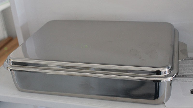 Heavy Stainless Covered Cake And Baking Pan