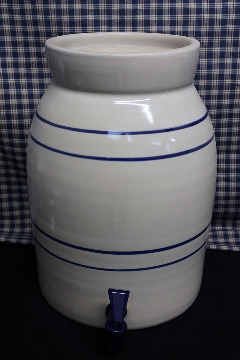 Usa Stoneware Water Coolers Blue Stripe 1 3 Gallon
