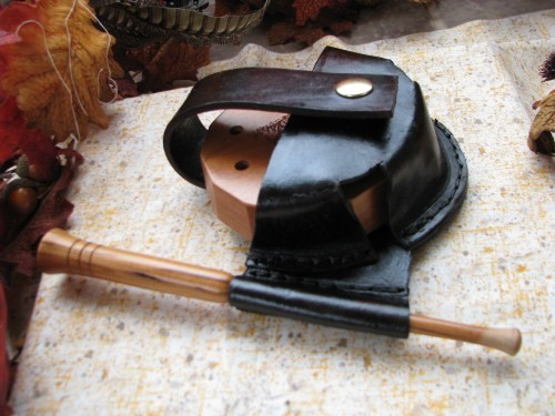 Leather Friction Pot Turkey Call Holster Pouch Turkey