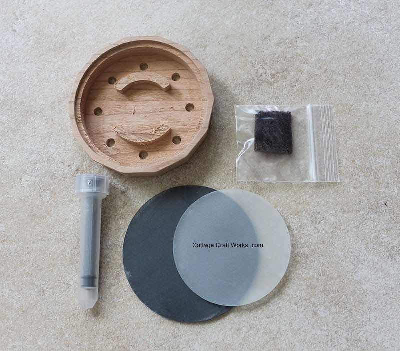 Slate Over Glass Turkey Slate Friction Pot Call Unfinished Kit