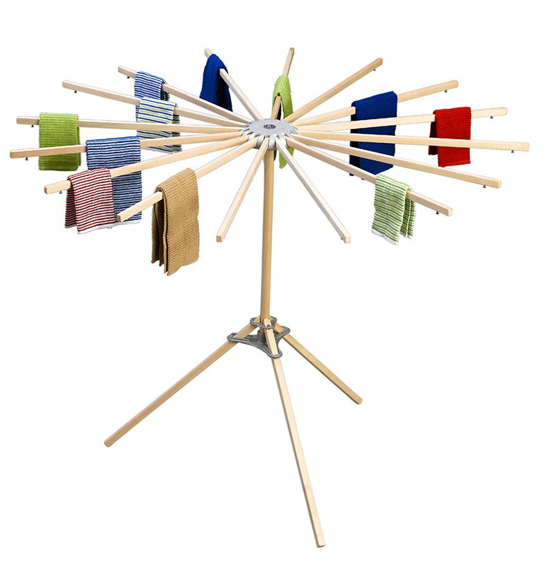 Umbrella Folding Floor Clothes Drying Rack Amish Usa Made