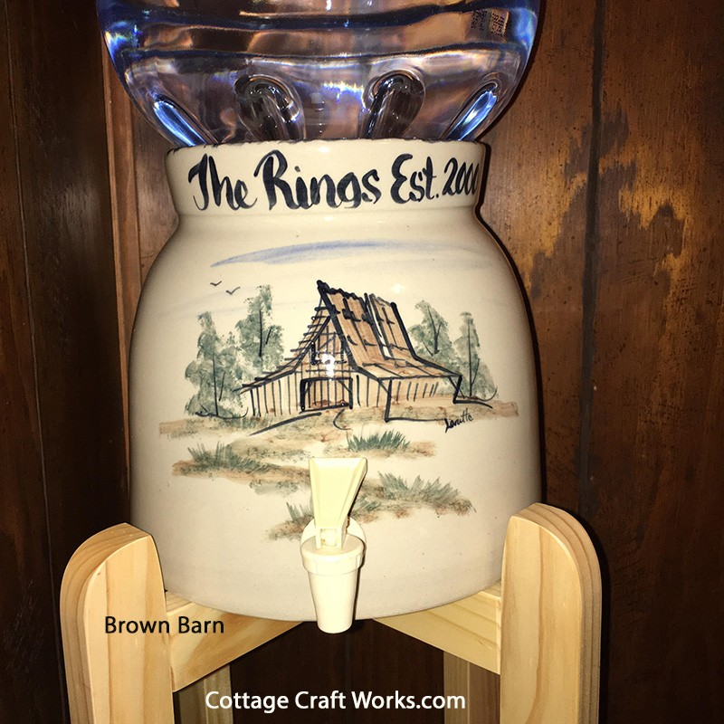 Made In The Usa Stoneware 5 Gal Water Bottle Dispensing Crock