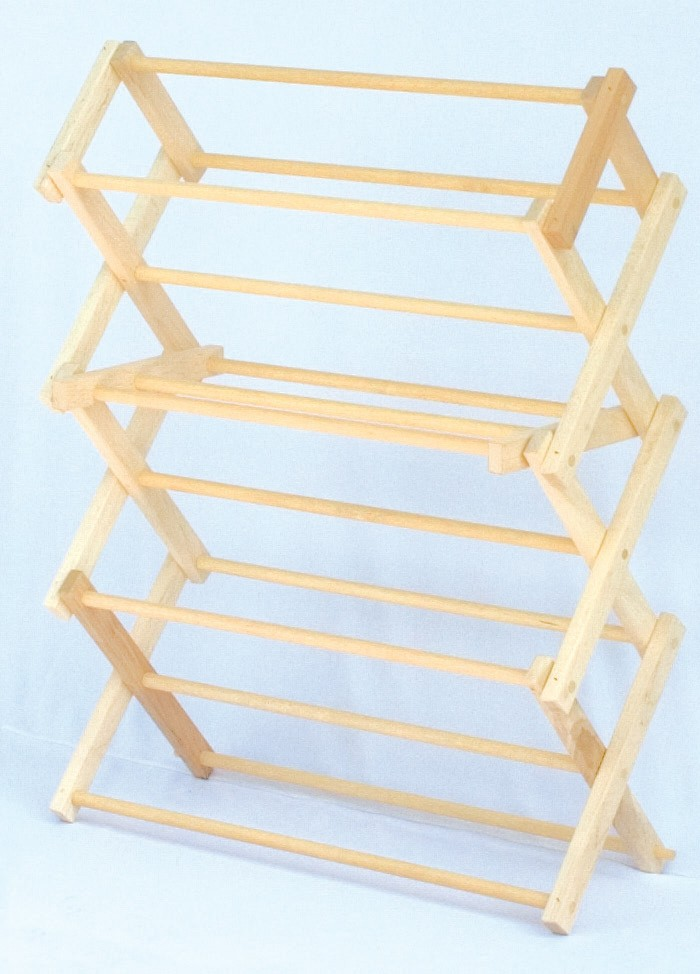 Amish Wooden Tabletop Folding Clothes Drying Rack