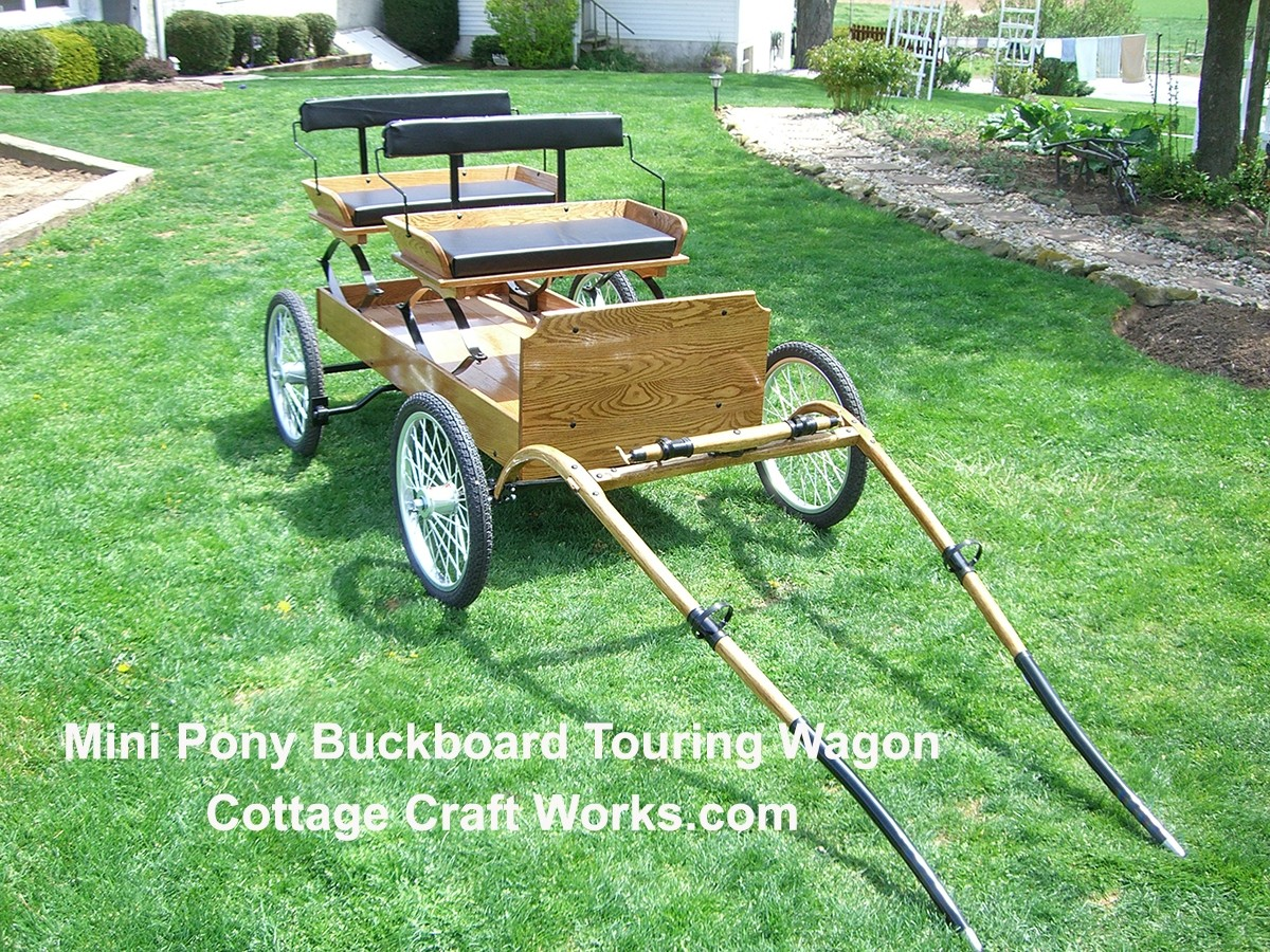 Mini Pony Buckboard Touring Wagon