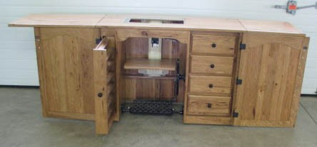 Amish Furniture Classic Sewing Machine Cabinet
