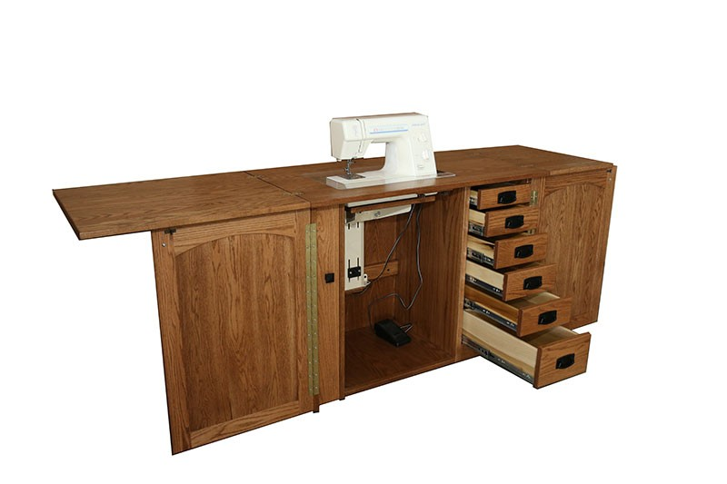 Amish Furniture- Heartland Sewing Machine Cabinet - Sewing ...
