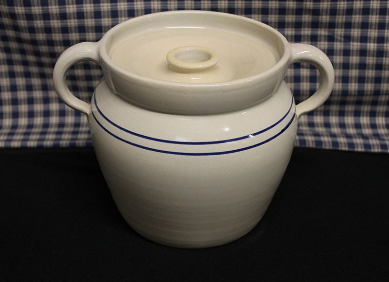 Usa Made Pottery Baked Bean Stew Stoneware Cooking Crock