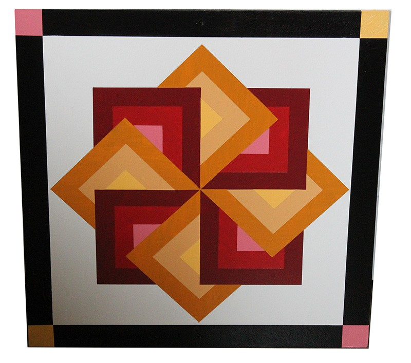 Amish Hand Painted Star Spin Barn Quilt