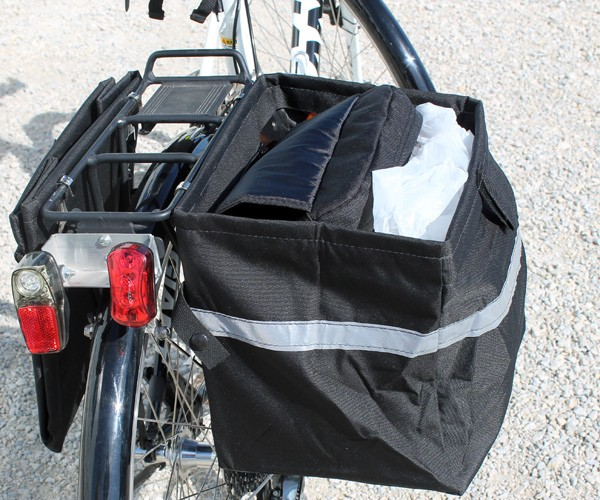 Bicycle Saddle Bags Hold Two Full Grocery Sacks Fold Up Flat