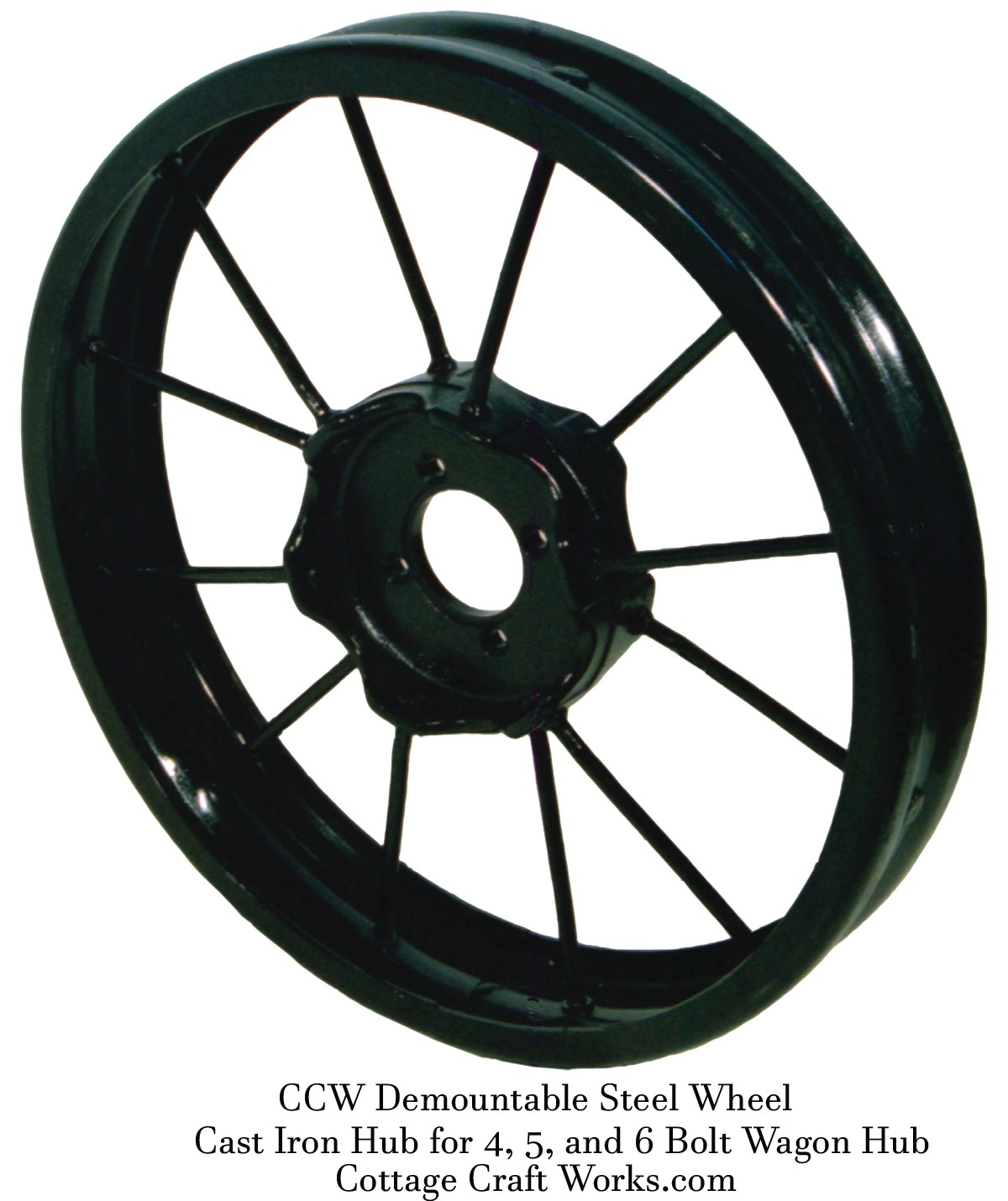 Cast Iron Steel Spoke Wagon Wheel