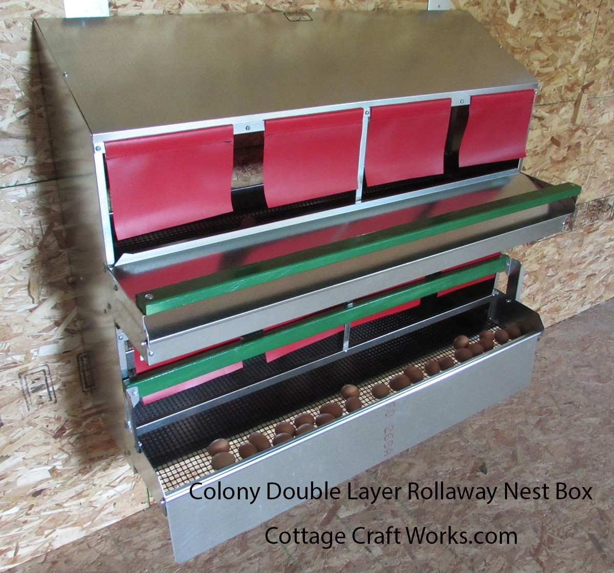Colony Double Layer Rollaway Nesting Box