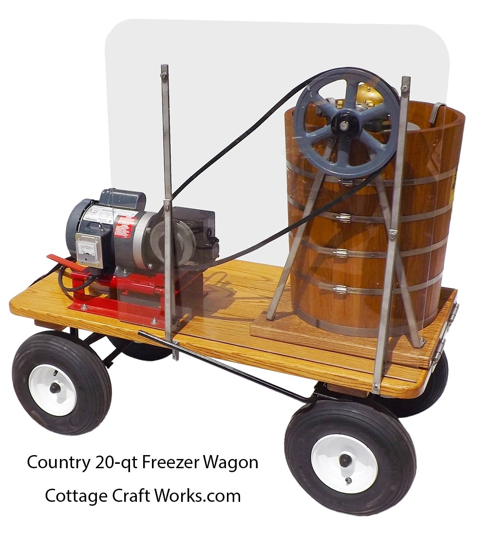 Country 20-qt Electric Wagon Mounted Ice Cream Maker