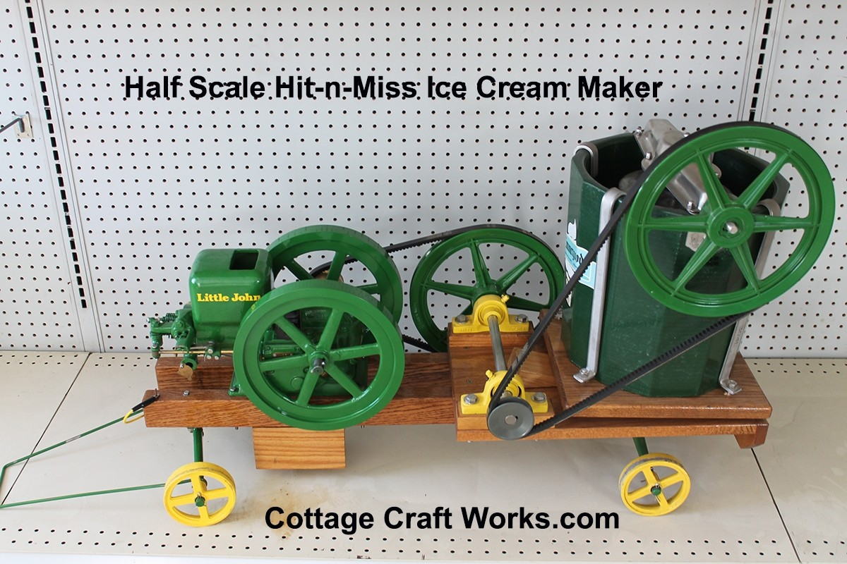 Half Scale Hit-N-Miss Reproduction Ice Cream Maker