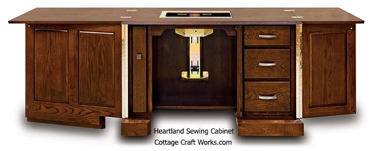 Heartland Sewing Cabinet Open