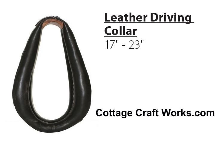 USA Leather Horse Driving Collar, Pony, Standard Sizes