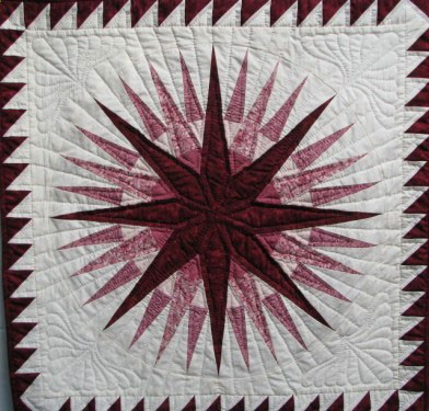 Mariner Compass Pattern Amish Hand Stitched Custom Quilt Stunning Mariners Compass Quilt Pattern