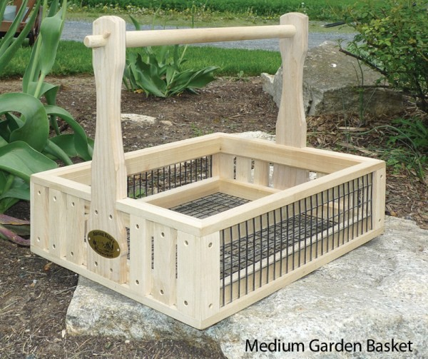 Garden Hod Amish handcrafted basket with class