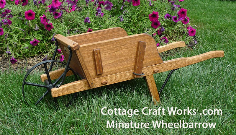 Miniature Replica Authentic Wheelbarrow