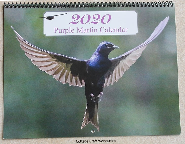 Troyer Purple Martin Educational Wall Calendar