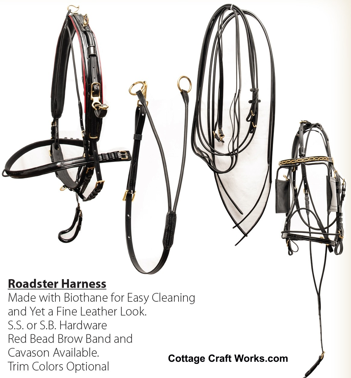 USA BioThane Supreme Roadster Competition Horse Harness
