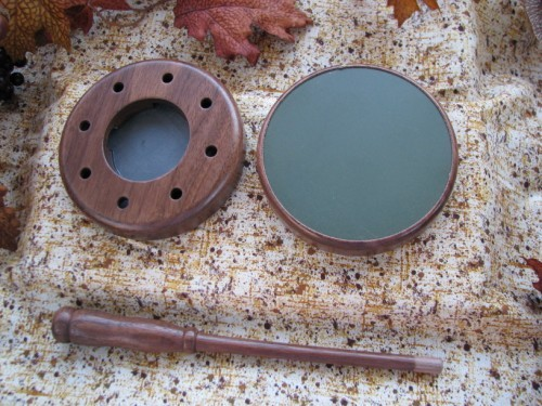 Aluminum | Slate | Combo  Friction Pot Turkey Call Walnut