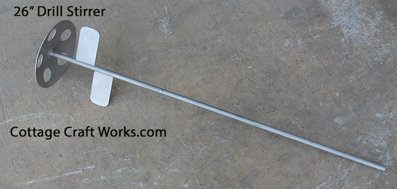 Dairy-Liquids Stainless Drill Powered Stirrer, Mixer