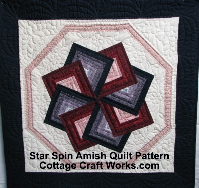Star Spin Amish Quilt