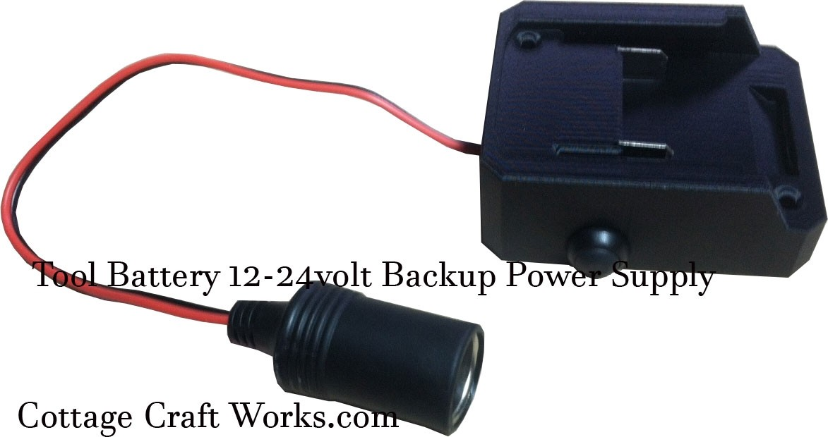 Tool Battery Adapter Auxiliary 12-24V Power Supply