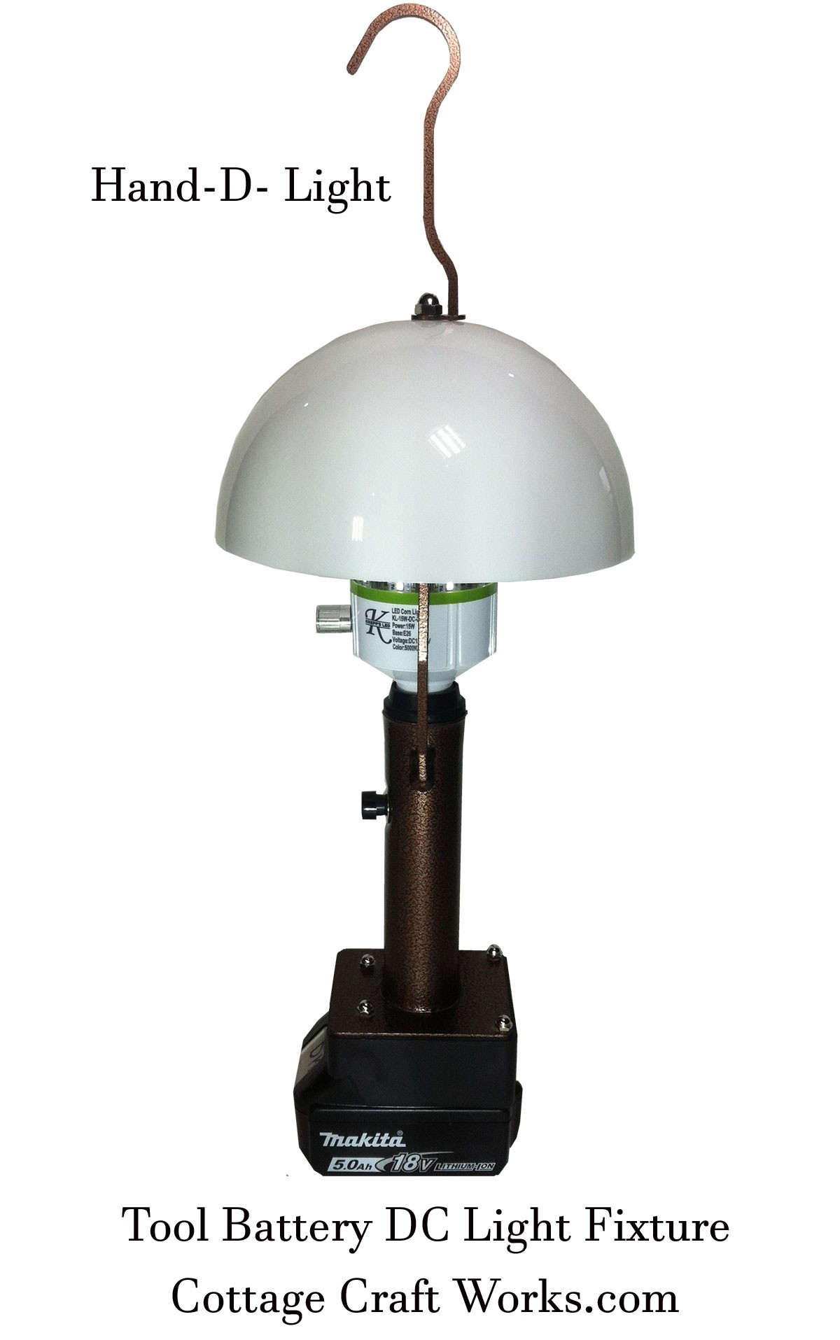 Tool Battery DC Light Fixture