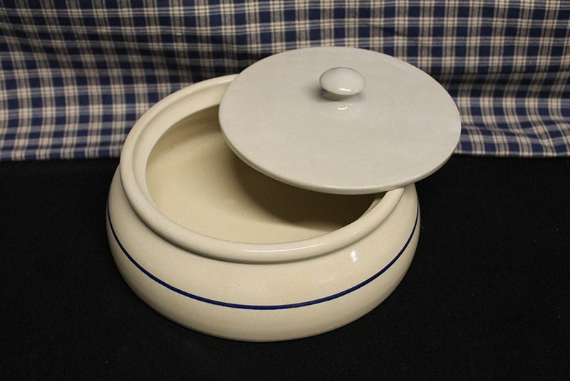 USA Stoneware Pottery | Tortillas | Quesso | Bowl | Blue Stripe