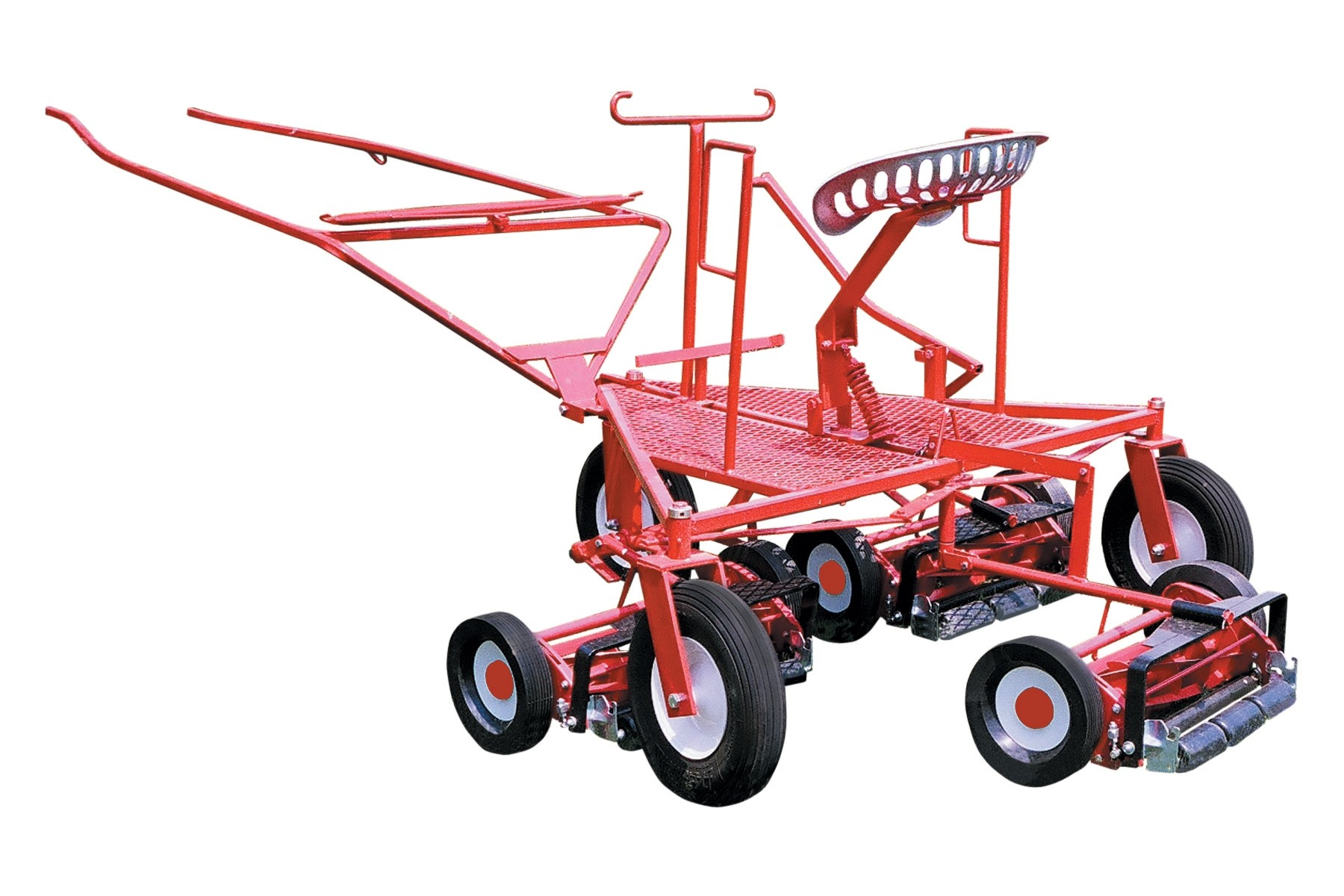 Tri-Wheel Frame Horse Pulled Gang Reel Mower