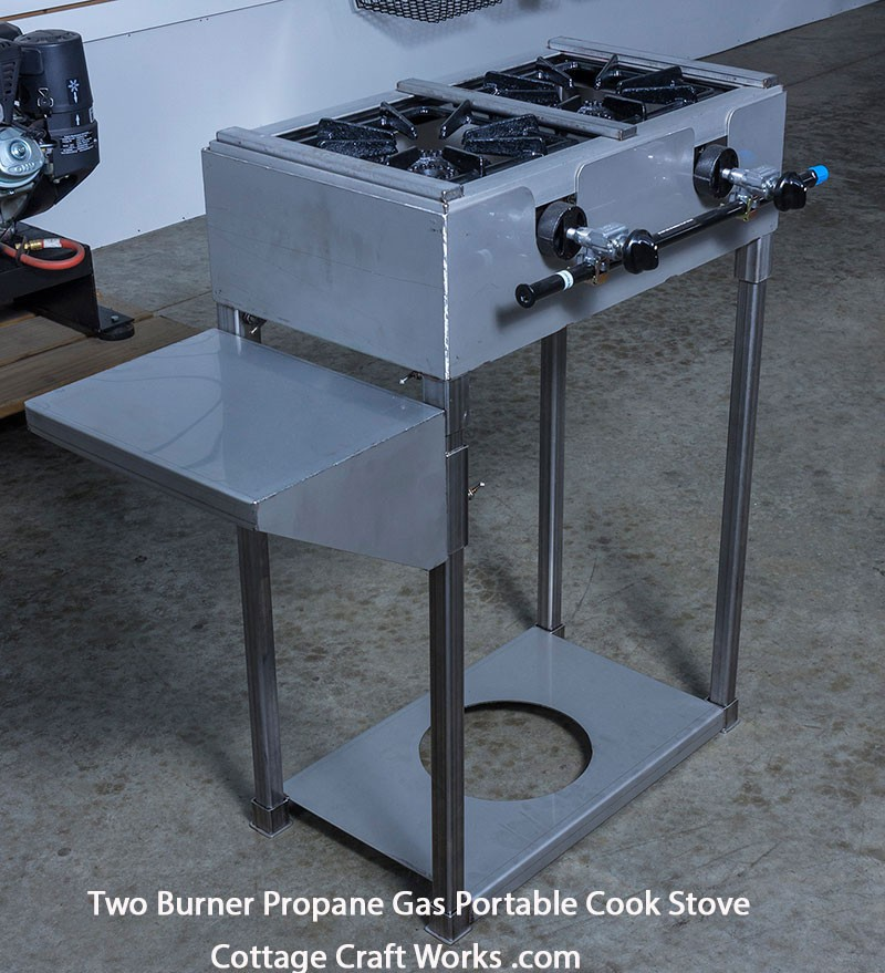 Two Burner Outdoor Professional Gas Cook Stove