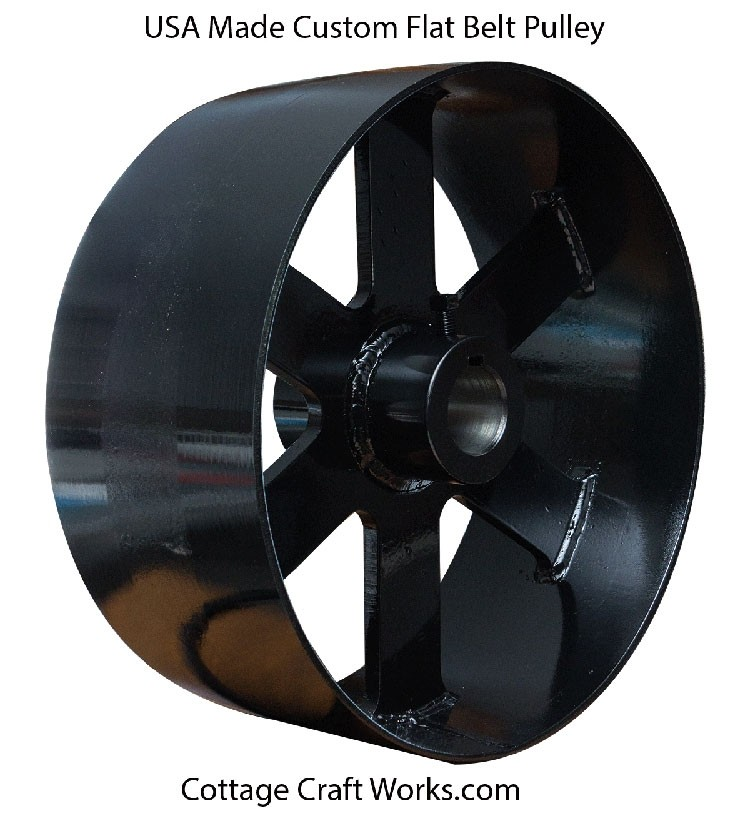 Flat Belt Line Shaft Engine Drive Pulley