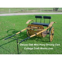 Deluxe Oak Mini Pony Driving Cart