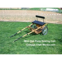 Mini Oak Pony Driving Cart