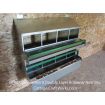 Rollaway Nest Box 8 Compartment Double Layer