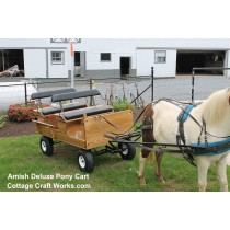 Deluxe Double Seat Pony-Miniatures Wagon