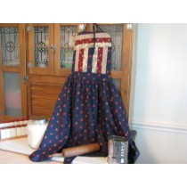 Amish Quilted Top Apron Blue