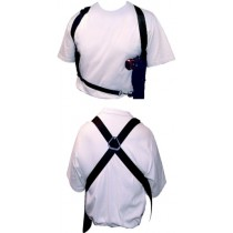 Vertical and Bandolier Shoulder Holsters Front & Back