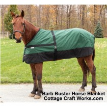 Barb Buster Horse Turnout Blanket Hunter Green