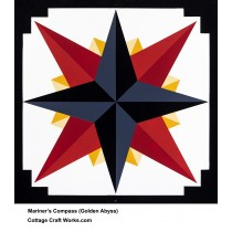 Barn Quilt Mariner's Compass Sailor