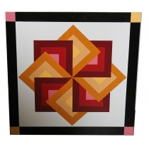 Star Spin Barn Quilt Yellow-Red