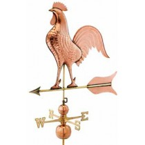 Copper Barn Rooster Weathervane